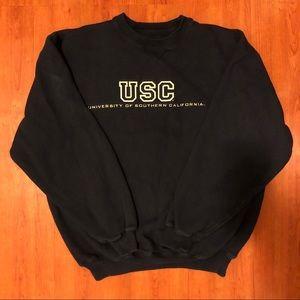 USC Big Cotton Black Crewneck Size Small